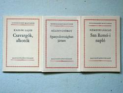 3 seed books in one, bálint gy., Németh l., Kassák l .: Csavargók, creators 1981 book good