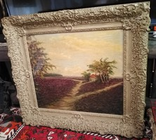Beautiful large imposing painting 82 x 77 cm
