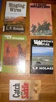 5 Db l.P. Holmes Wild West novel, piece price!