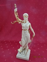Justitia, goddess of truth alabaster statue, height 32.5 cm. He has!