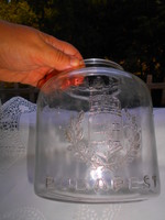Warhanek c. Budapest mason jar with convex decoration with Hungarian coat of arms