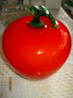 Óriás  üveg alma dísz dekoráció