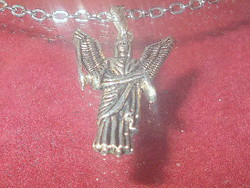 Winged guardian angel Tibetan silver necklace