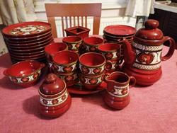 12 személyes, 42 részes komplett kerámia teás vagy kávéskészlet gyönyörű állapotban