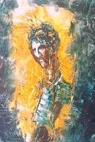 András Győrfi - Adam and Eve 2 x 150 x 80 cm oil, wood fiber