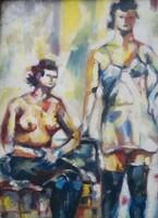 Marked mikó painting 51x66.5 cm