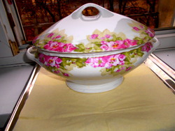 Real traditional bourgeois piece - porcelain soup bowl