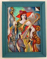In the captivity of music / oil painting by Alexander Seres /