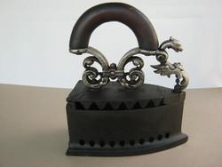 Marked old cast iron iron dragon