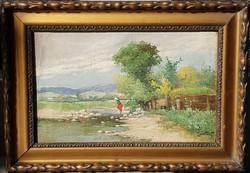 Zorkóczy Gyula (1873-1932): Lány a pataknál