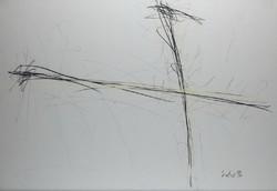 István Ocztos - yellow-black 59 x 83 cm pastel, pencil, paper 1996