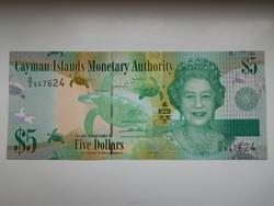 Kajmán- szigetek 5 dollár 2014 UNC