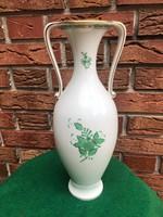 Herend green apponyi patterned ear amphora vase