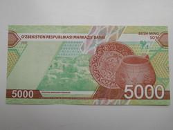 Üzbegisztán 5000 som 2021 UNC Új˘!