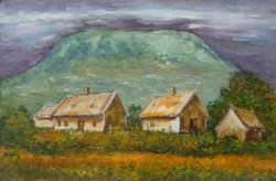 CSOBÁNC - tájkép (24,1x15,8 cm)