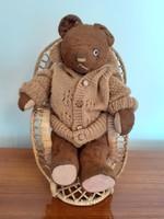 Old toy teddy bear vintage brown teddy bear