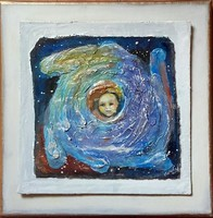 Baby waiting.Baby waiting occasion.Where did you come from? C. 30X30cm Károlyfi sofia prima prize winner