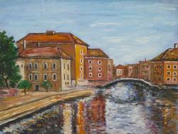 Venice Bridge - landscape (21.3x16.3 cm)