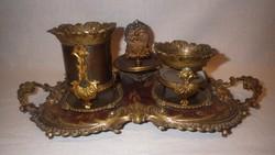 Fantasztikus antik réz asztali dohányzó készlet