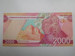 Üzbegisztán 2000 som 2021 UNC Új˘!