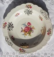 Schwarzenhammer richly gilded porcelain, beautiful flower bowl 28 cm in diameter, marked