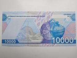 Üzbegisztán 10000 som 2021 UNC Új˘!