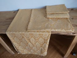 Beautiful golden old brocade curtain or upholstery fabric 9.6 meters