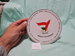 Hollóház plaque necos technical colleges 17 cm