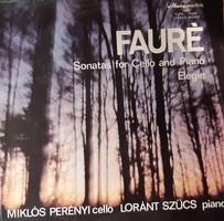 Miklós Perényi plays fauré works with a horse-drawn carriage, a rare lp! Vinyl record vinyl