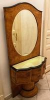 Antique walnut root veneered mirror mirror