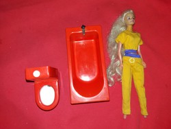 Old barbie doll toy bathroom bathtub toilet steffi doll in one pictures
