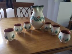 Tiszalök glazed bastard with 6 glasses