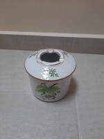 Herend ladybug, rosehip patterned lid ashtray, ashtray