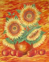 Sunflowers for michael sch - (60x75 cm)