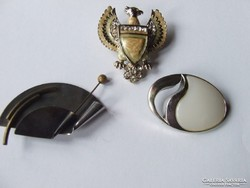 Old, eighties jewelry badge, brooch-3 in one!