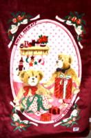 Teddy bear baby blanket / bed tablecloth