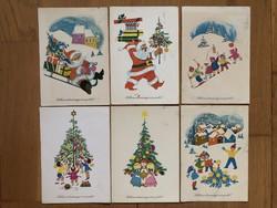 Aranyos Karácsonyi képeslapok - B. Lazetzky Stella rajz  -  ár / db