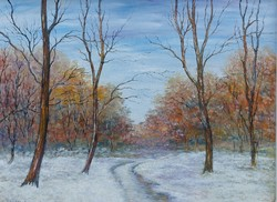 Winter forest in the Balaton Uplands - landscape (80x60 cm)