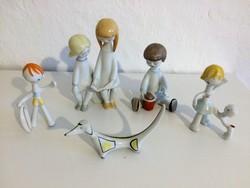 Hollóházi porcelán figurák, nippek, figurális szobrok gyüjtemény