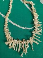 Antik fehér korall ágas nyaklánc