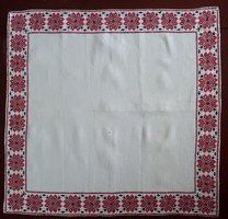 Old cross-stitch tablecloth embroidered on homemade linen