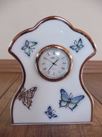 Butterfly watch painted with Herend platinum