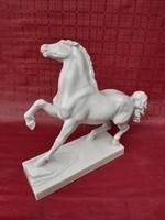 Herend antique huge horse. Signed.