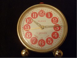 Art deco slava 11 stone vinyl stem jewels watch rarity in gilded circle frame