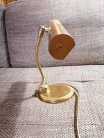 Réz asztali lámpa/bankár lámpa, állítható, működőképes, nagyon szép darab!