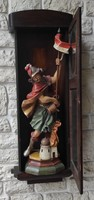 Wall vtrin cabinet, shelf cabinet collection, home altar, relic holder, shelf cabinet, wall clock