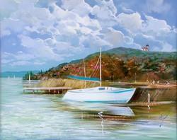 Adilov Kabul Tihany port on Lake Balaton 40x50cm