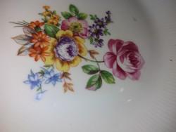 Wonderful deep plate with antique bouquet pattern, kahla