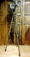 Industrial style floor lamp, custom surveyor foot lamp, loft