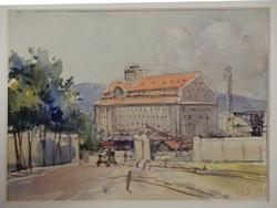 GUARD. Marked: cityscape, watercolor